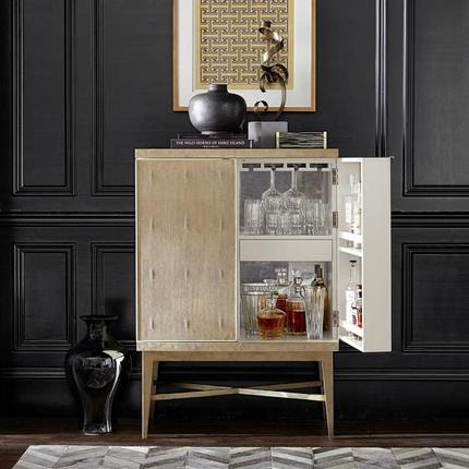 mini bar Modern Mini Bars For The Luxury Living Room seymour beige cabinet