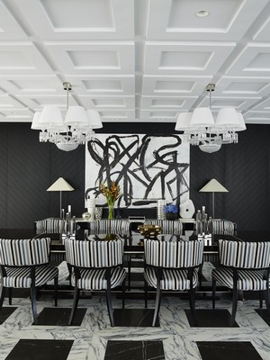 modern black dining room sets | 10 Modern Black and White Dining Room Sets That Will ...