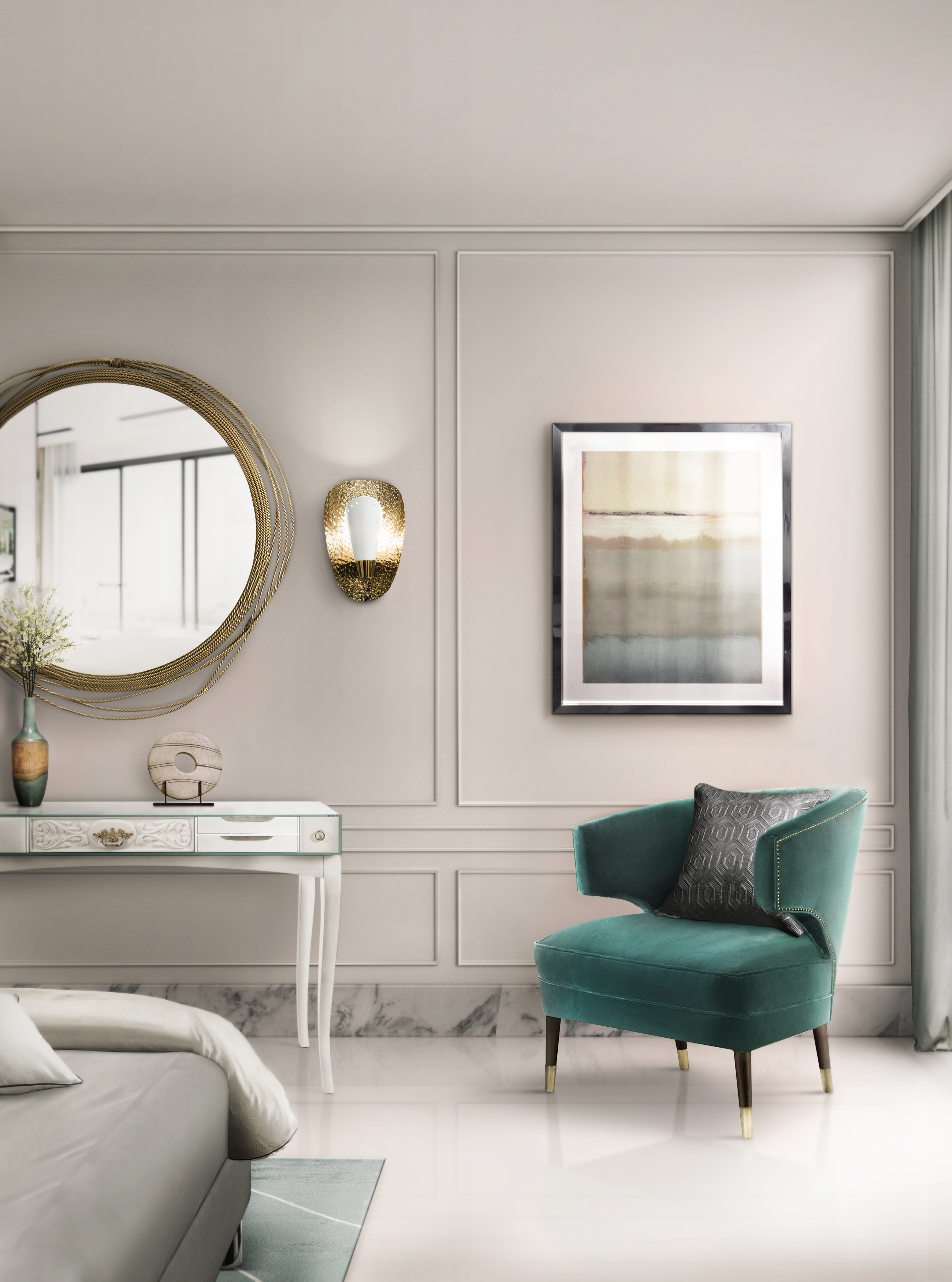 how to combine console tables and mirrors