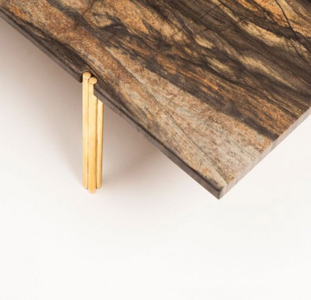 Wood surface brass leg table wooden dining tables 10 Creative Wooden Dining Tables christopher allen coffee table e1457452166682