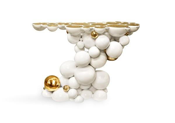 futuristic console design gold and white console table 10 Stunning Gold and White Console Table Designs boca do lobo newton white and gold console e1459506638965