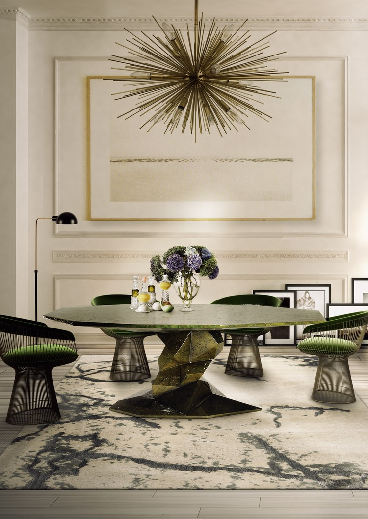 Green Dining Room Inspirations green accents How to Decorate with Green Accents Green Dining Room Inspirations