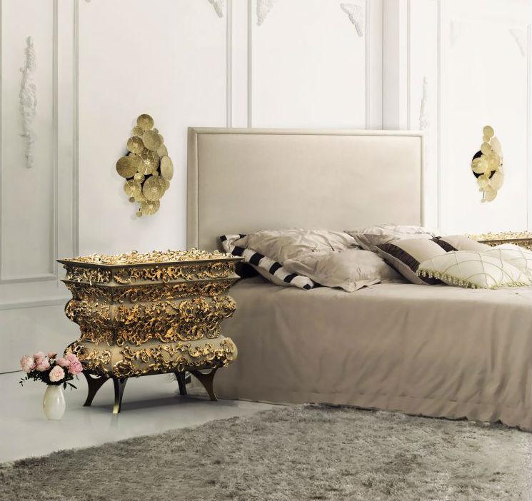 Las mejores dormitorios femeninos de lujo dormitorios femeninos Las mejores dormitorios femeninos de lujo Crochet nightstand by boca do lobo