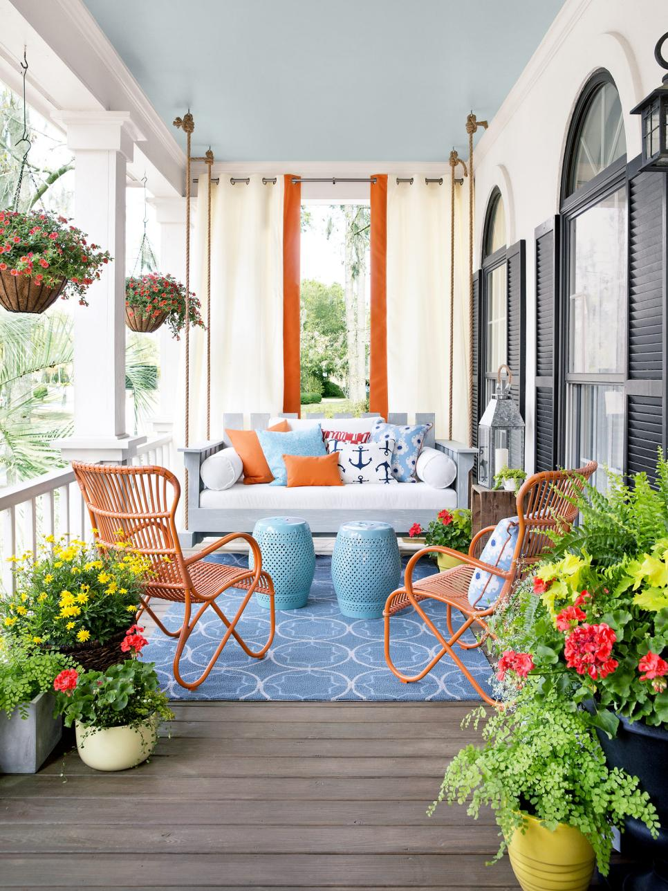 Colorful Porch Modern Porch How to Decorate your Modern Porch for Summer Time Modern Porch