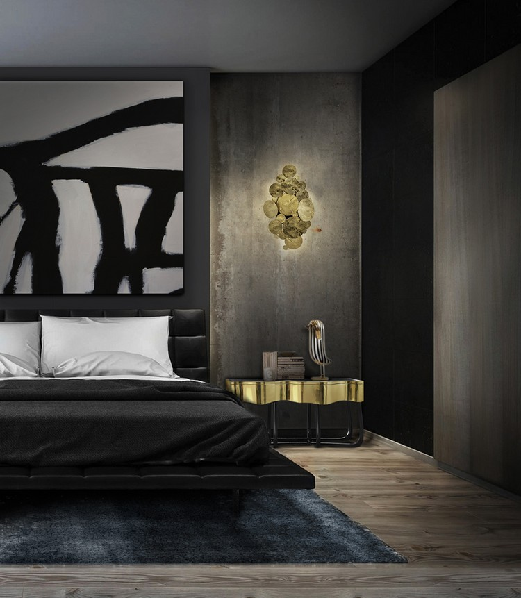 Sinuous Nightstand by Boca do Lobo Masculine Bedroom Charming Masculine Bedroom Ideas Sinuous Nightstand by Boca do Lobo