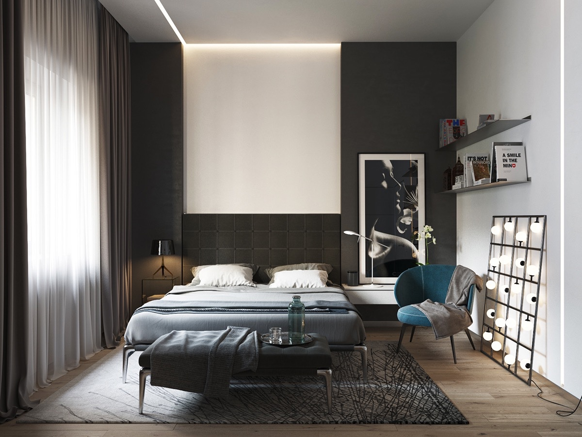 black modern bedroom black and white master bedroom shows the stretch of the 10865