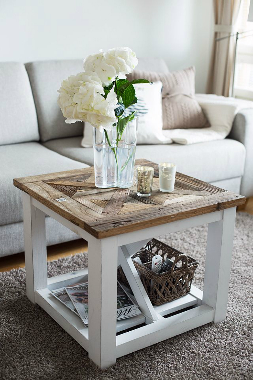 Home Decorating Ideas With Vintage Coffee And Side Tables