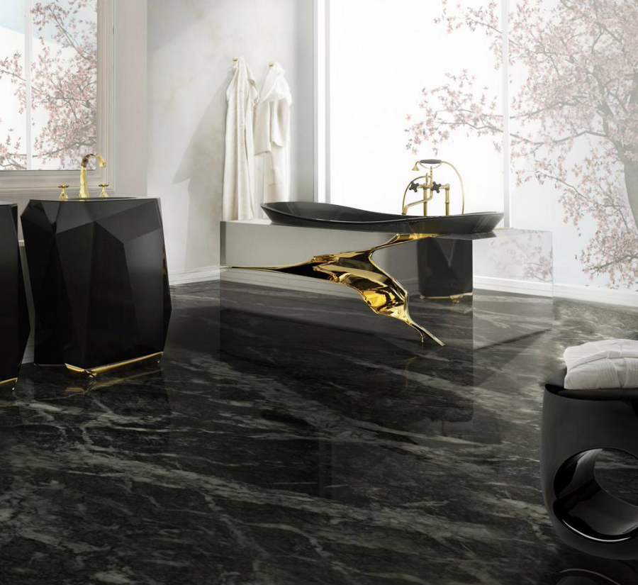marble bathroom Luxurious Marble Bathroom Designs 881