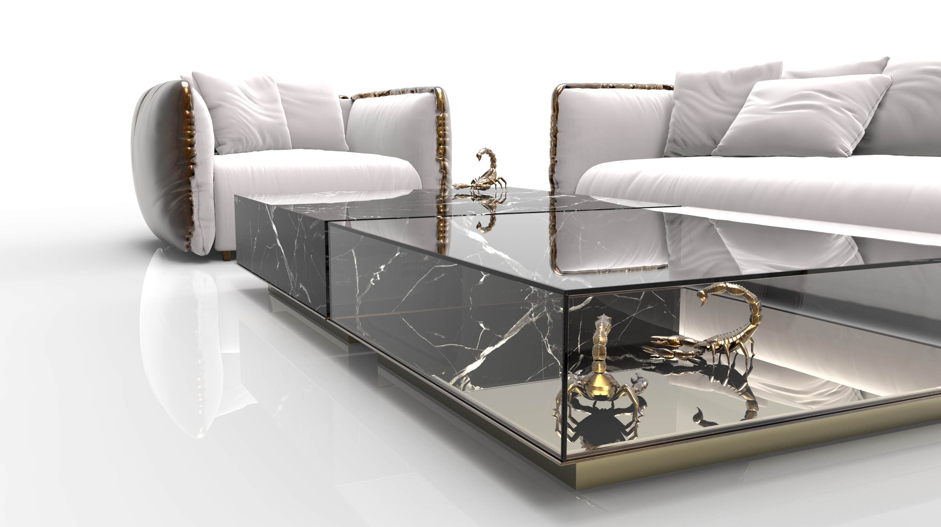 marble Marble Coffee and Side Table Designs On Home Interiors Metamorphosis Center Table 3