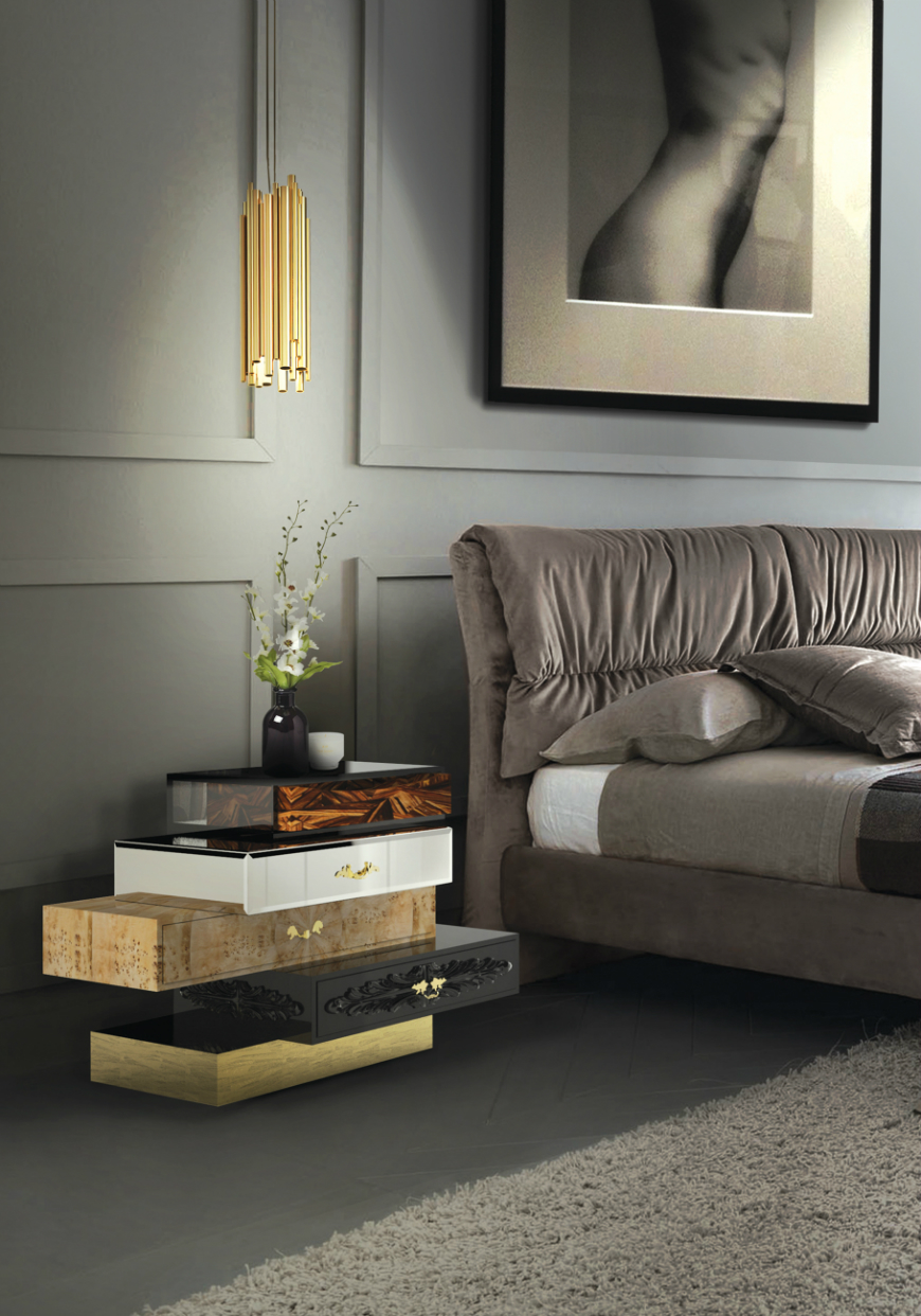10 Exclusive Bedside Tables for your Master Bedroom Decor - Frank Nightstand by Boca do Lobo