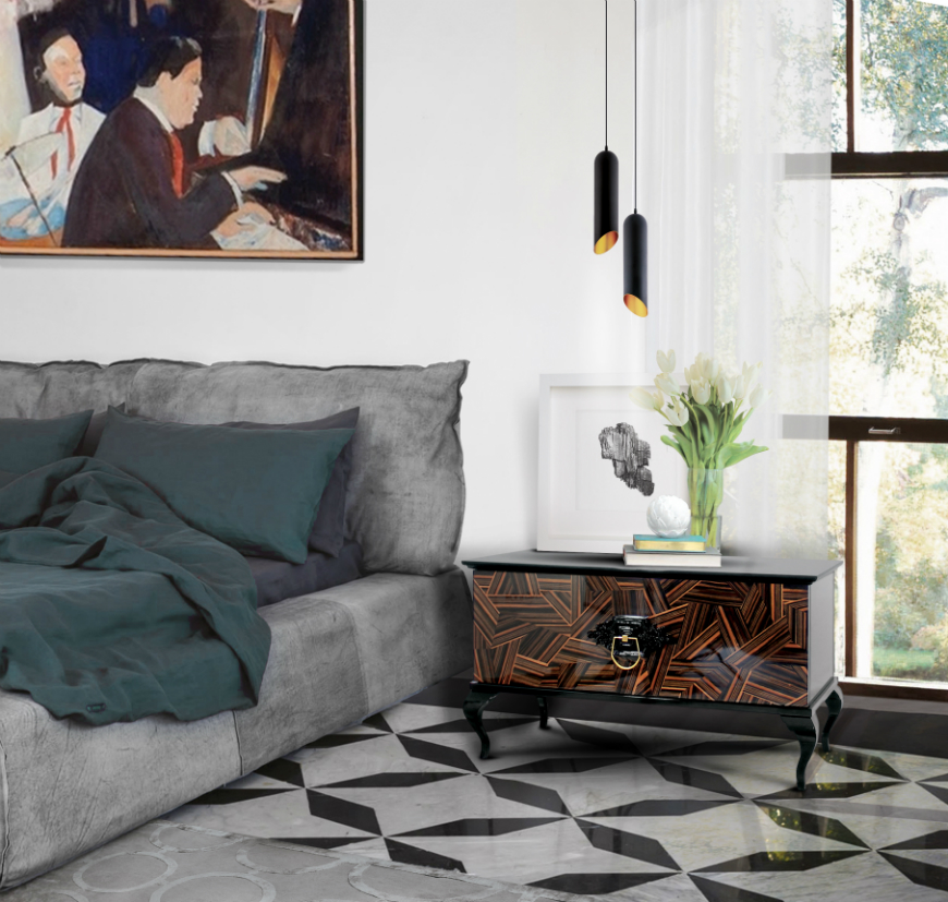 10 Exclusive Bedside Tables for your Master Bedroom Decor - Guggenheim Nightstand by Boca do Lobo