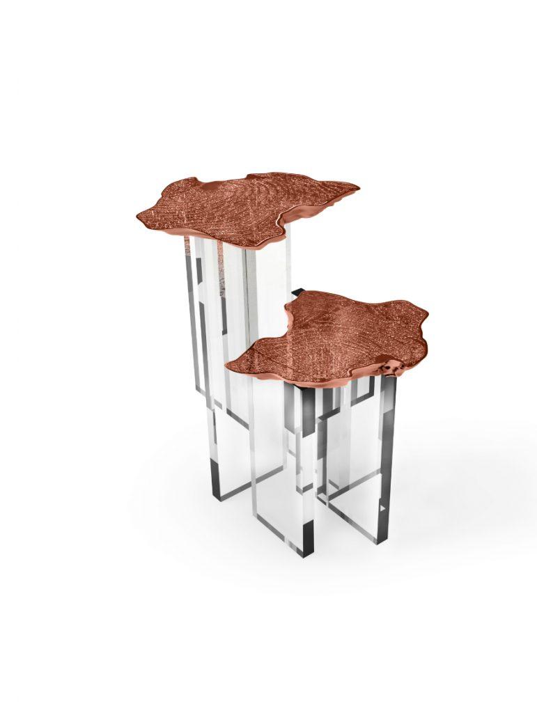 monet-side-table-02 copper 40 Stupendous Copper Coffee and Side Tables for Luxury Homes monet side table 02 Cooper