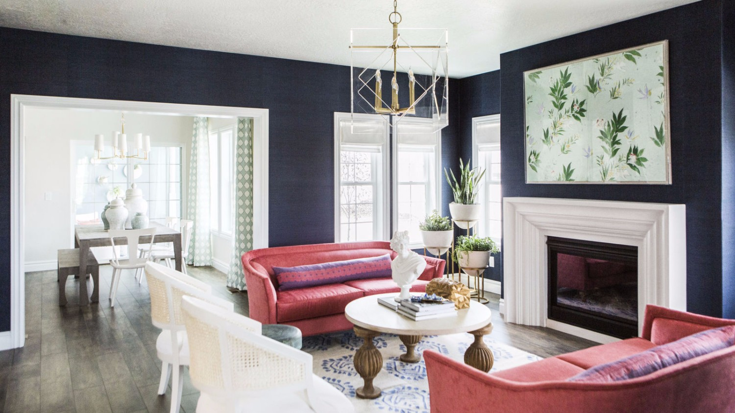 Living Room Inspirational Modern Living Room Designs navy walls 1