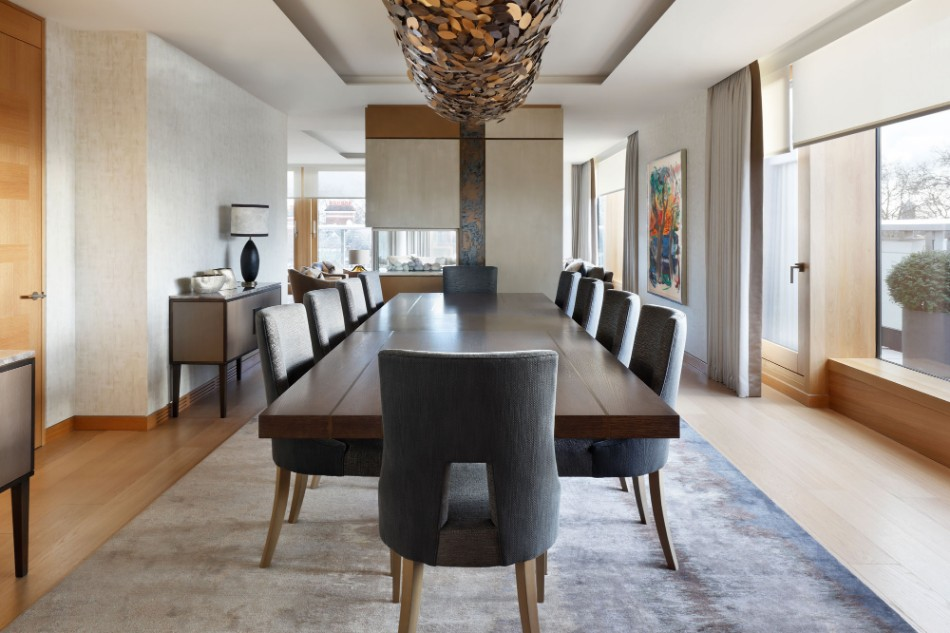 3.-HELEN-GREEN-DESIGN-PENTHOUSE-KENSINGTON-DINING-ROOM helen green Top 100 Coveted Magazine: Brilliant Dining Rooms by Helen Green 3