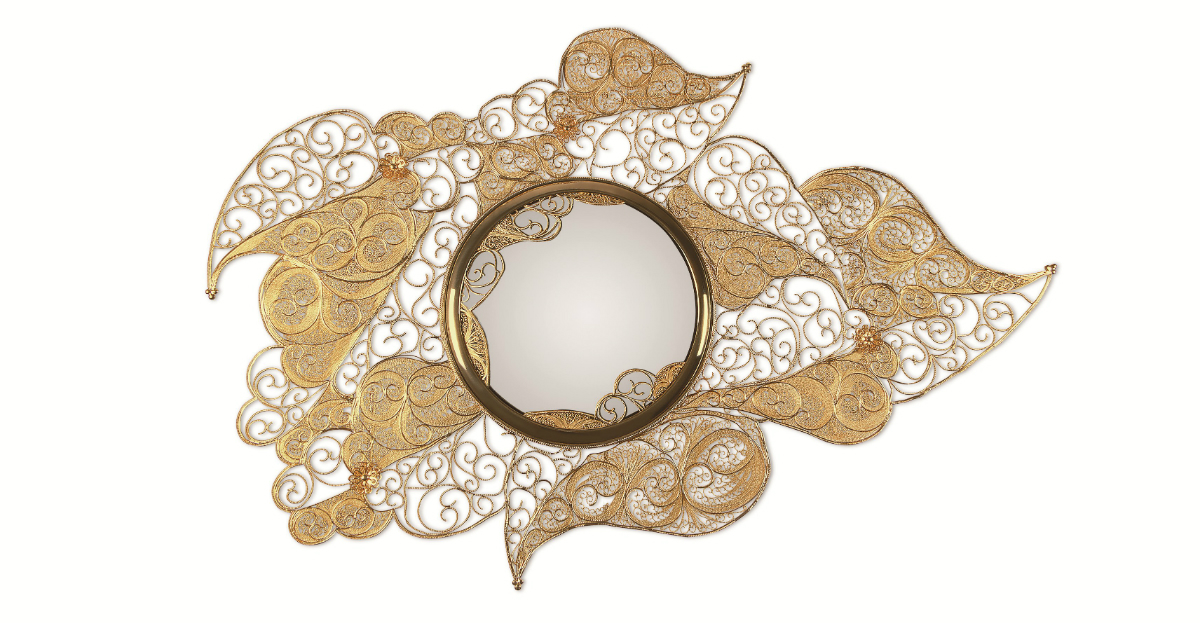 filigree Filigree Mirror Reinvents an Ancient Jewellery Making Technique  FILIGREE Mirror Boca do Lobo 245821 relfda394ec