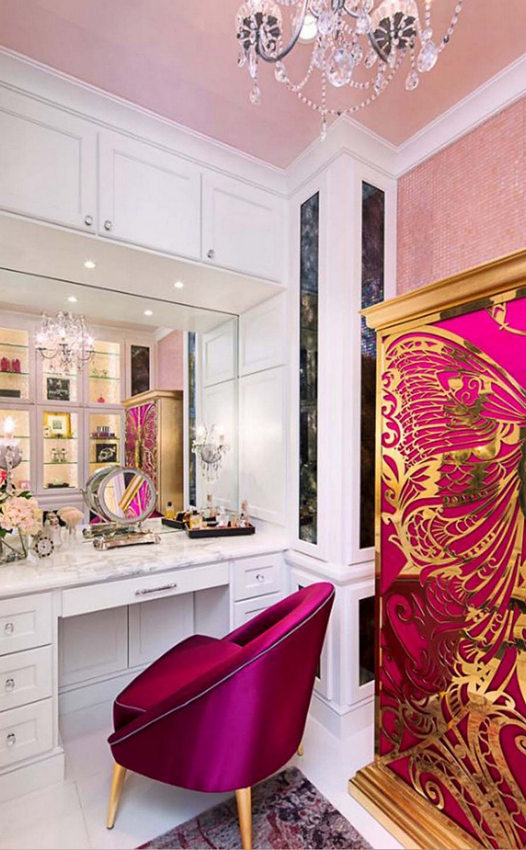 Innenarchitektur luxus  Luxus Innenarchitektur mit rosa Details | Wohn-DesignTrend