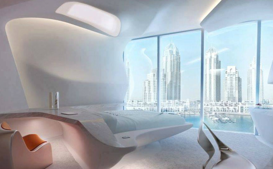 zaha hadid Modern Bedroom Inspirations by Zaha Hadid ME Dubai Hotel Bedroom Zaha Hadid luxury bedroom hotel design master bedroom ideas1