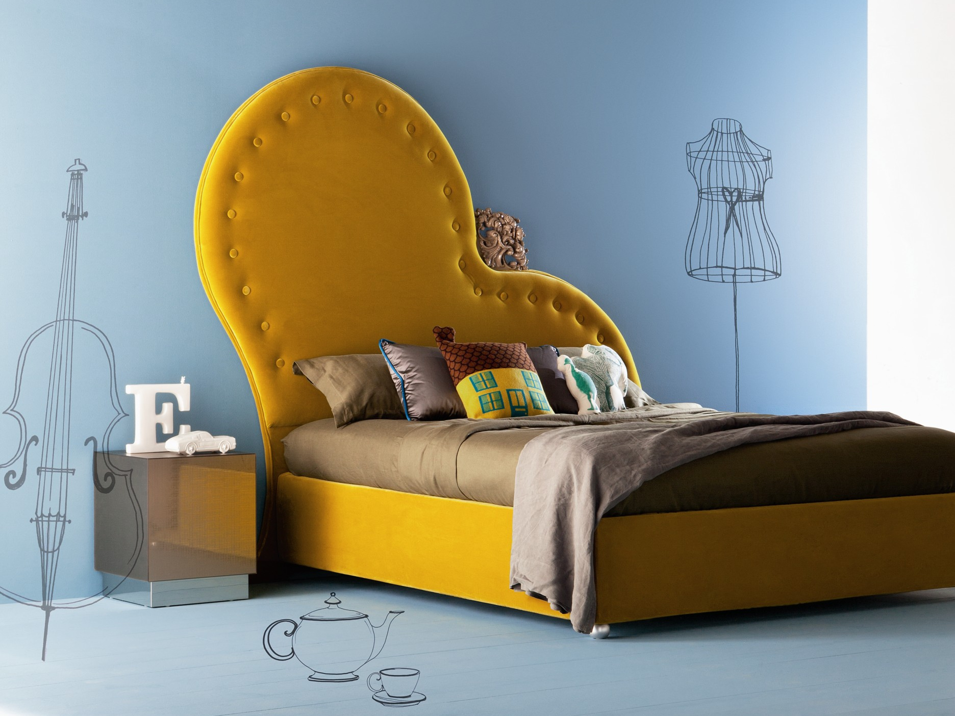 color palette Vivid Color Palettes for your Bedroom yellow bed modern bedroom design ideas contemporary design vivid color pallette master bedroom decor