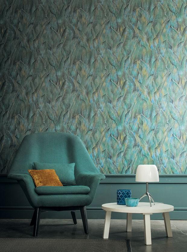 15 Inspiring Rooms with Modern Wallpaper modern wallpaper 15 Inspiring Ideas with Modern Wallpaper 10 casalille  modelo aca acajou4