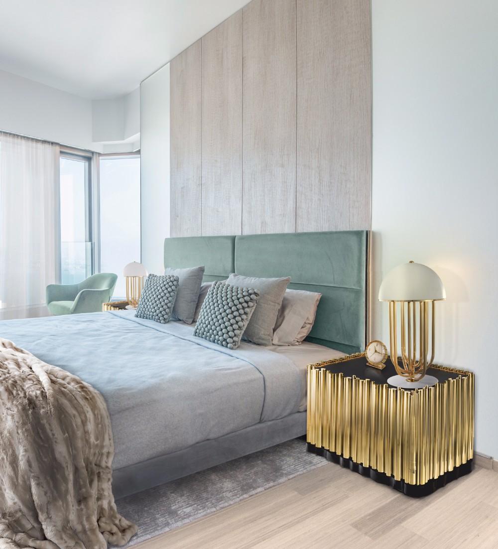 master bedroom Luxury Master Bedrooms By Famous Interior Designers Boca Do Lobo Symphony Nightstand Luxury Furniture Exclusive Golden Nightstand Design