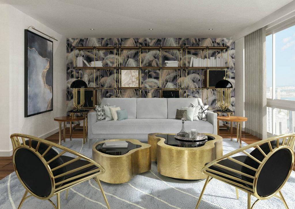 15 Inspiring Ideas With Modern Wallpaper, Modern Wallpaper Designs For Living Room