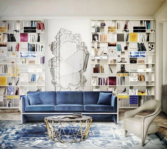 Blue Sofa Living Room Decorating Ideas Home Decoration Design Ideas
