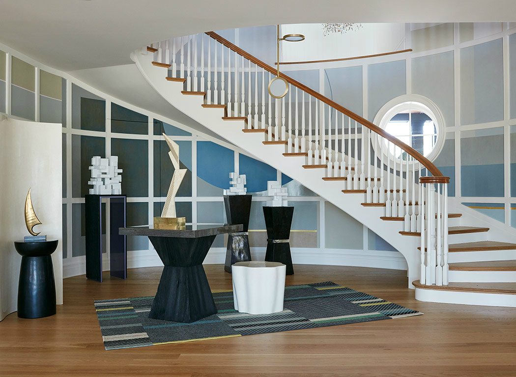 interior design The Sculptural Interior Design of Maddux Creative Holiday House Hamptons Stairway by Maddux Creative 1