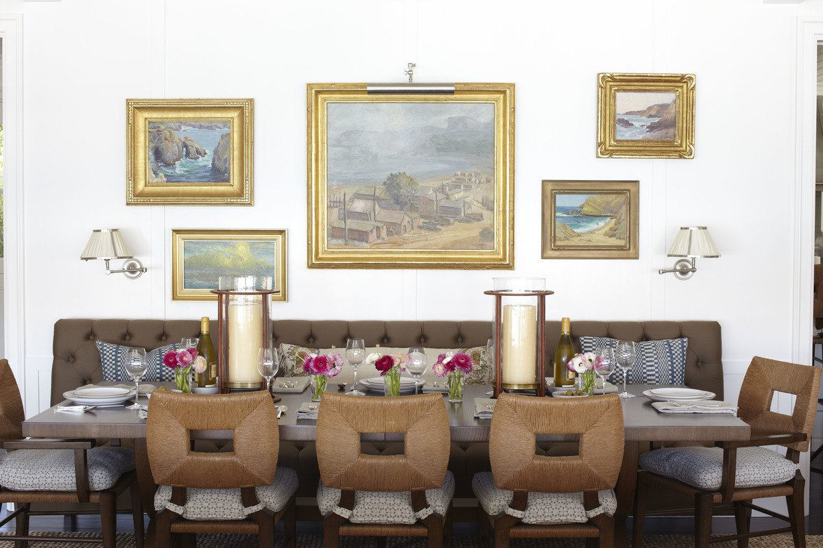 dining room How 21 Famous Interior Designers Decorate a Dining Room Newport Beach Dining Room by Peter Dunham Design 1
