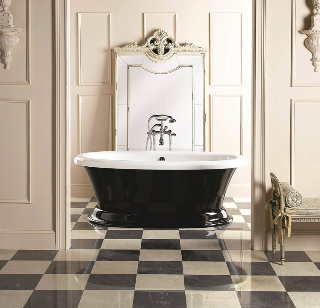 checkerboard bathroom floor 10 dreamy interiors with black and white checkered floor 12305
