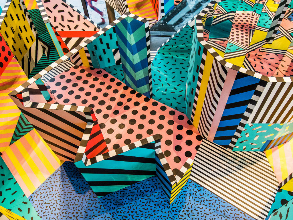 art installation Playful Art Installation by Graphic Artist Camille Walala cove2