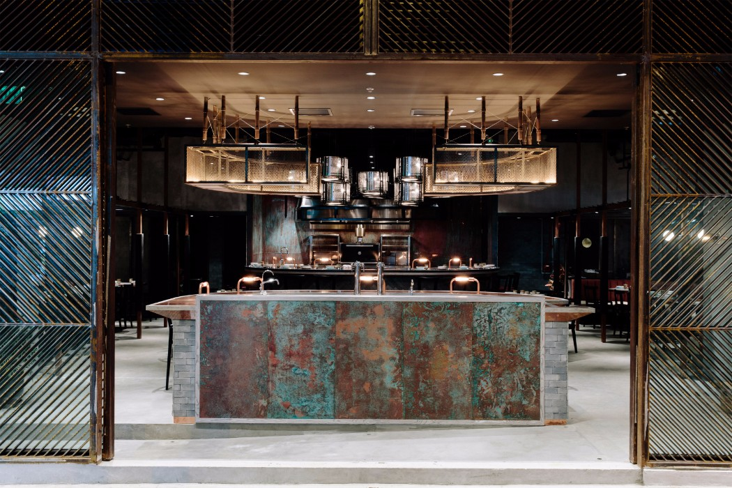 hotel interior Design Guide: Luxury Hotel Interiors in Southeast Asia lit ma rhoda restaurant joyce wang studio hong kong interior design dezeen 3408 0 1 1