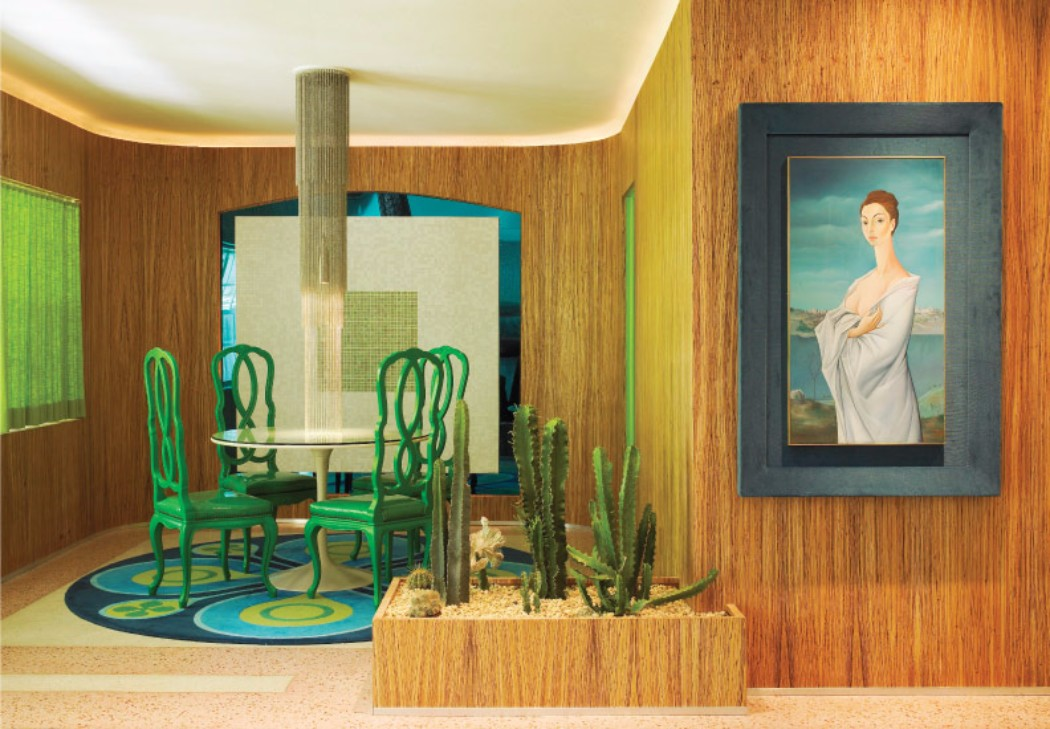 modern interior Modern Interiors: Doug Meyer's Color Mastery in Miami modern interiors by doug meyer 1940 villa colorful design interior designer dining room