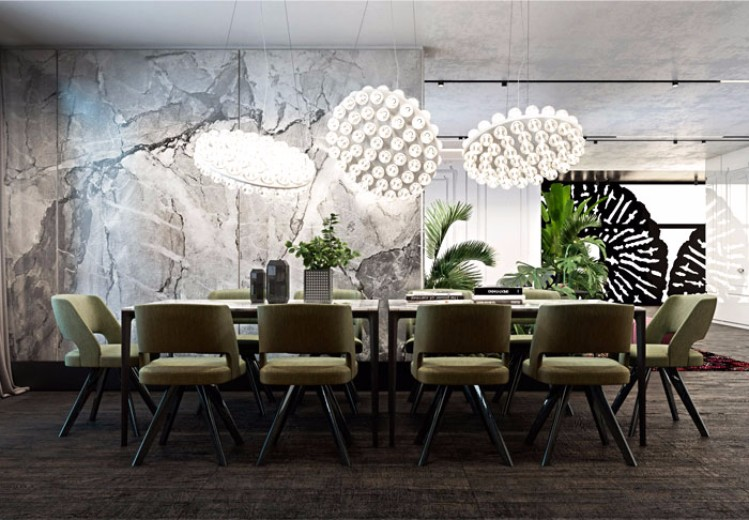 Rustic Modern Dining Room Images