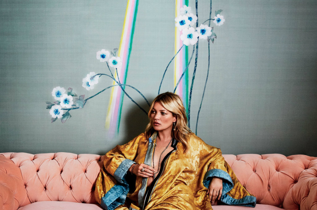kate moss Kate Moss and de Gournay Wallpaper Design Collaboration cover1 2