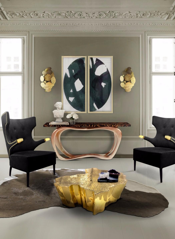 contemporary interior design Gilded Furniture Pieces for Contemporary Interior Design eden center table boca do lobo 09
