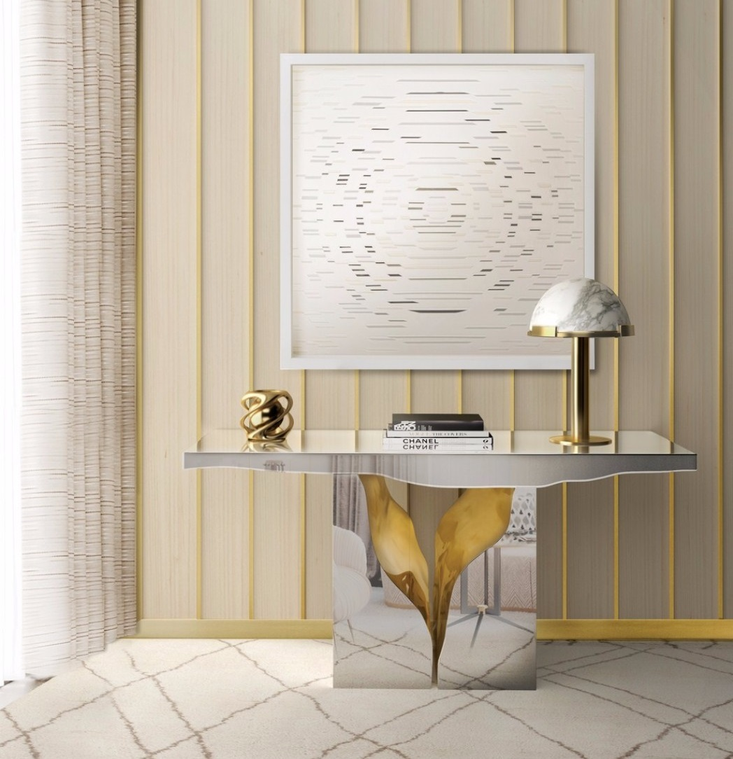 contemporary interior design Gilded Furniture Pieces for Contemporary Interior Design lapiaz console boca do lobo interior 1