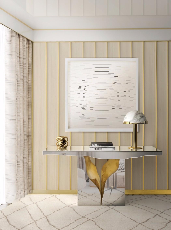 contemporary interior design contemporary interior design Gilded Furniture Pieces for Contemporary Interior Design lapiaz console boca do lobo interior