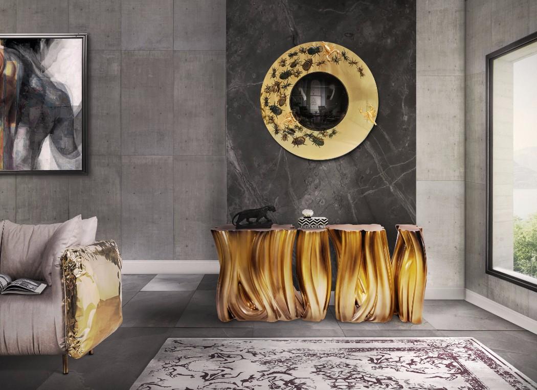 contemporary interior design contemporary interior design Gilded Furniture Pieces for Contemporary Interior Design metamorphosis mirror by boca do lobo