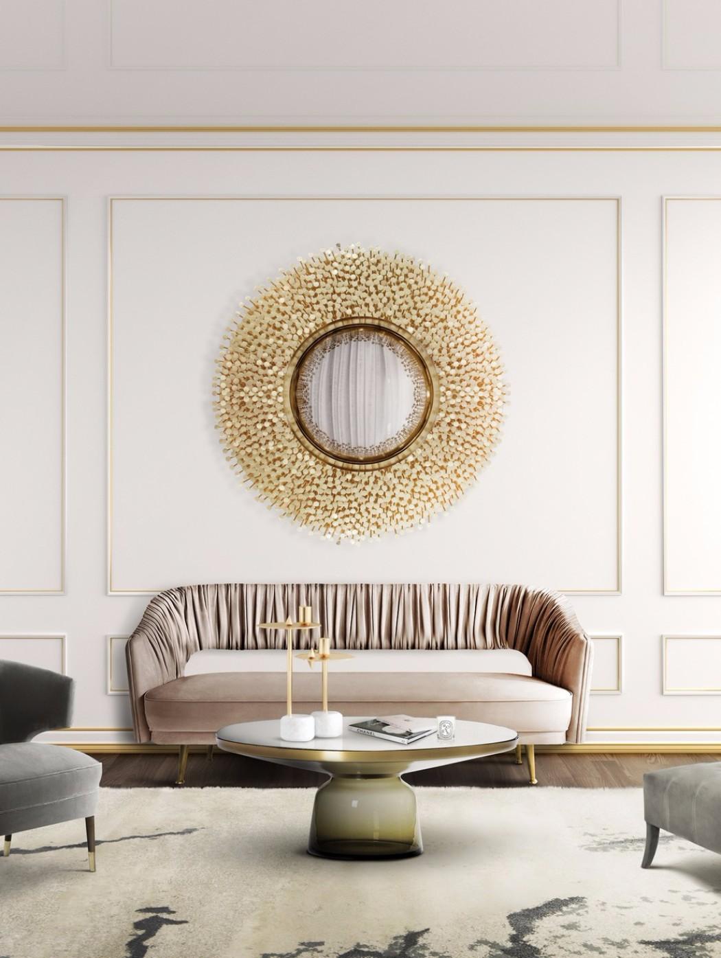 contemporary interior design Gilded Furniture Pieces for Contemporary Interior Design robin mirror boca do lobo
