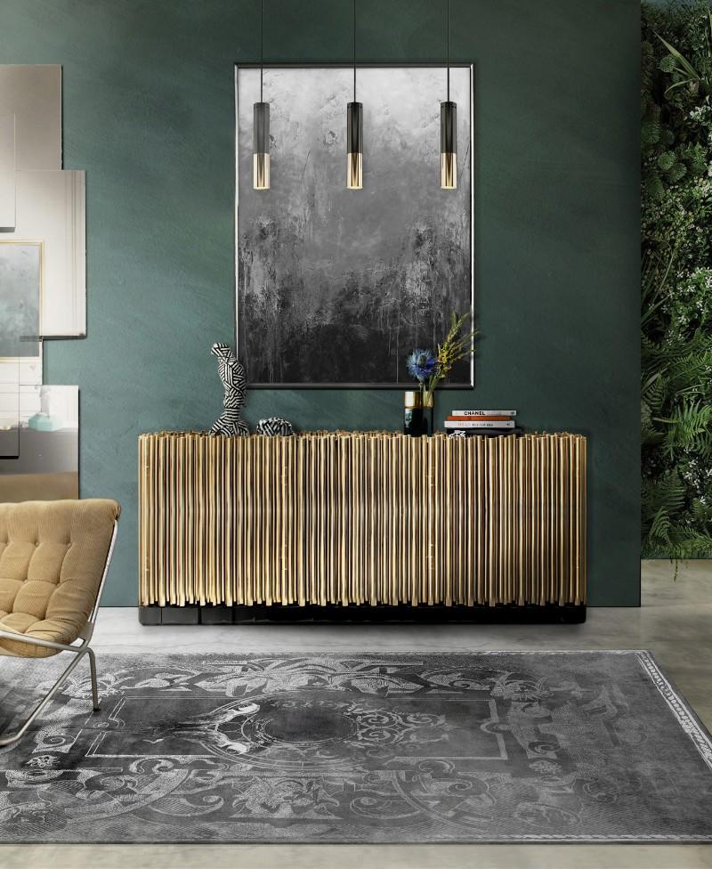 contemporary interior design Gilded Furniture Pieces for Contemporary Interior Design symphony sideboard 1