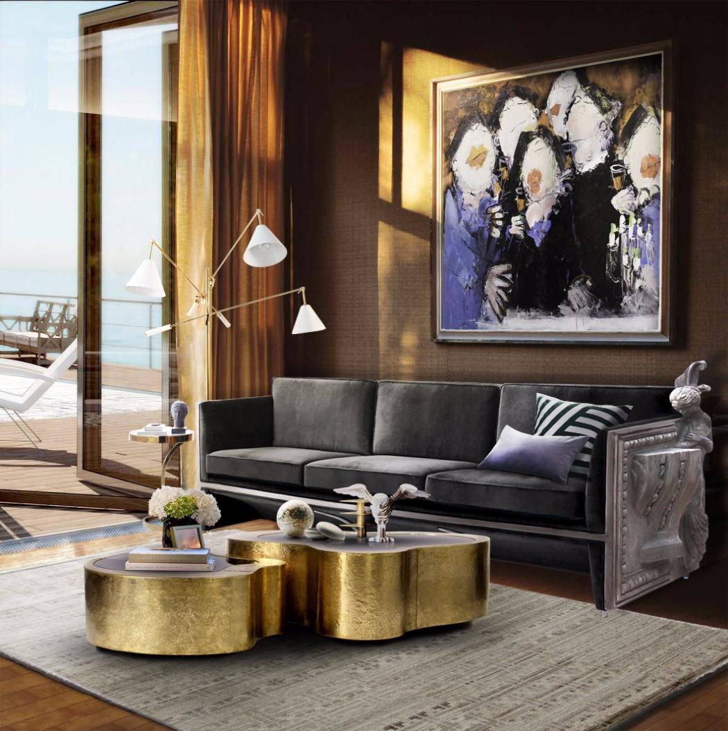 contemporary interior design contemporary interior design Gilded Furniture Pieces for Contemporary Interior Design wave cover center table by boca do lobo