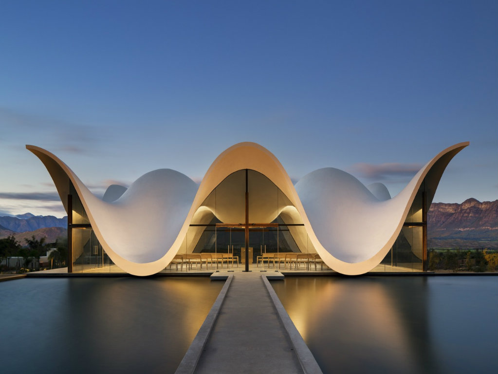 architecture Sculptural Chapel Architecture Surrounded by South Africa Landscape borjes chapel cover