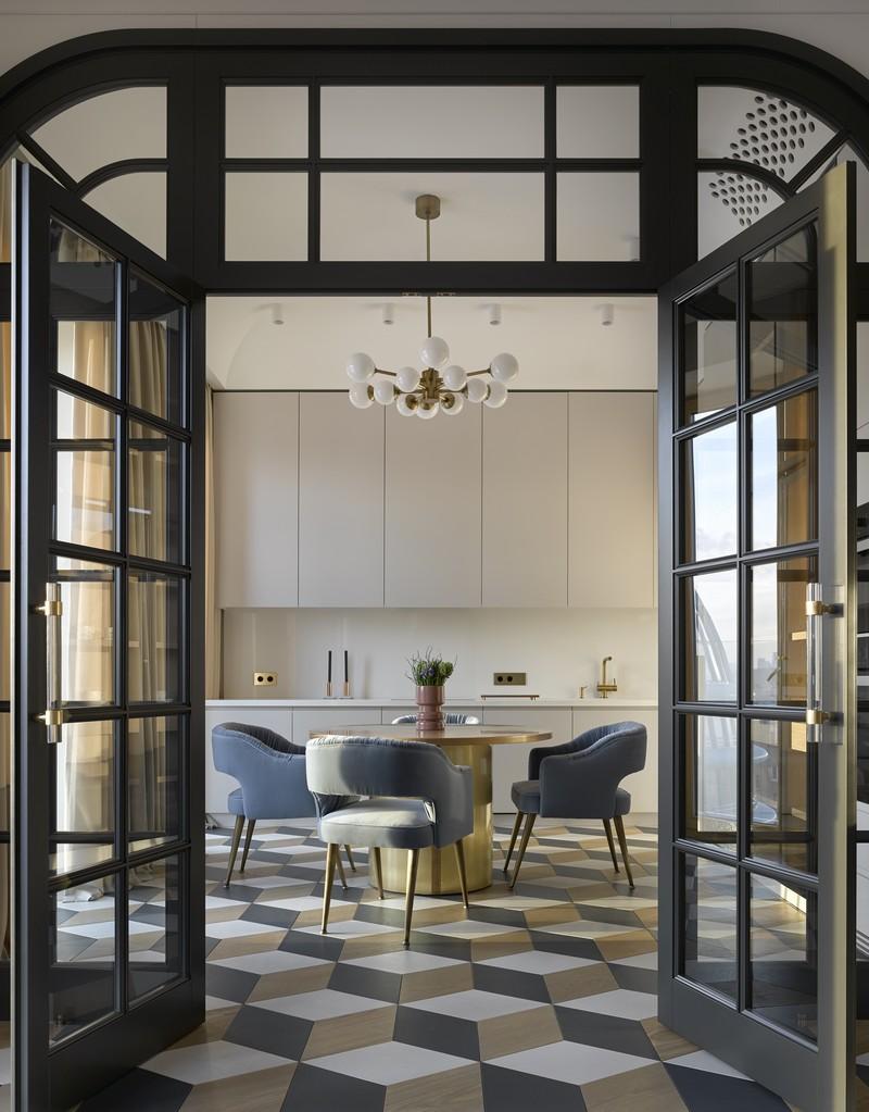 contemporary Russian Contemporary Apartment with Boca do Lobo by Ekaterina Lashmanova ekaterina lashmanova 13