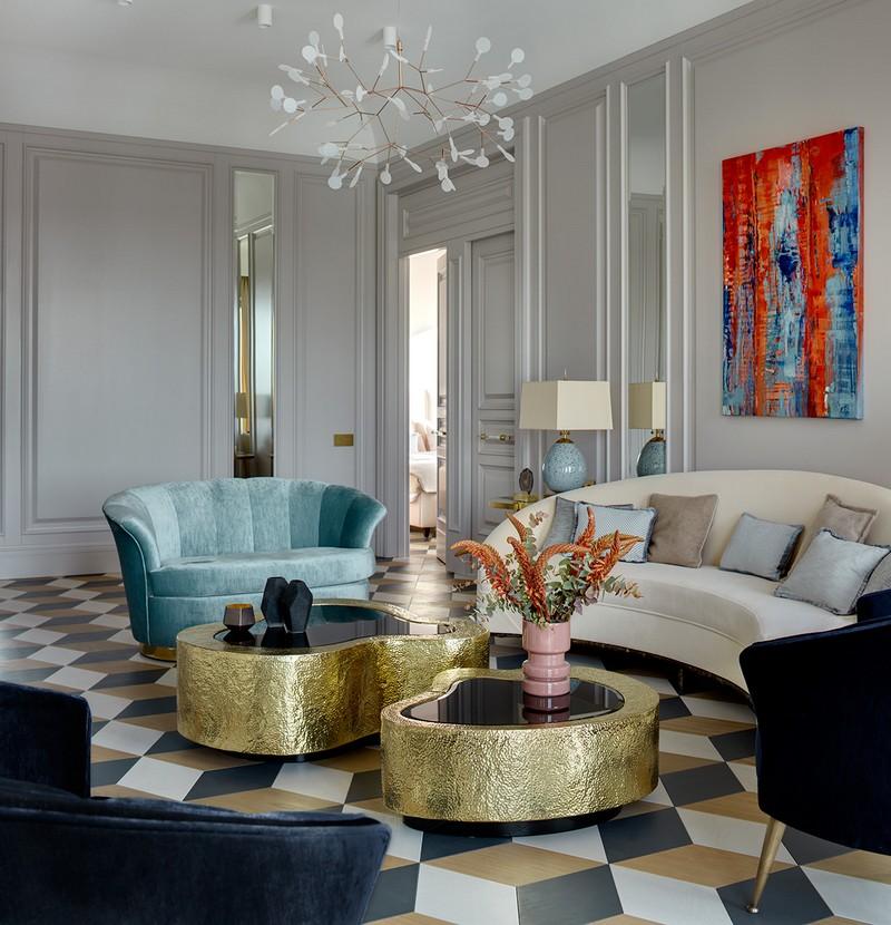 Contemporary Russian Contemporary Apartment with Boca do Lobo by Ekaterina Lashmanova ekaterina lashmanova 17