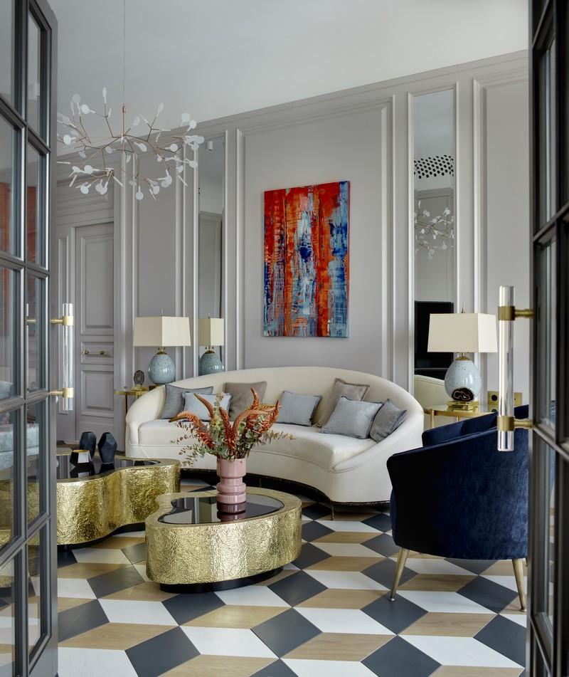 contemporary Russian Contemporary Apartment with Boca do Lobo by Ekaterina Lashmanova ekaterina lashmanova 19
