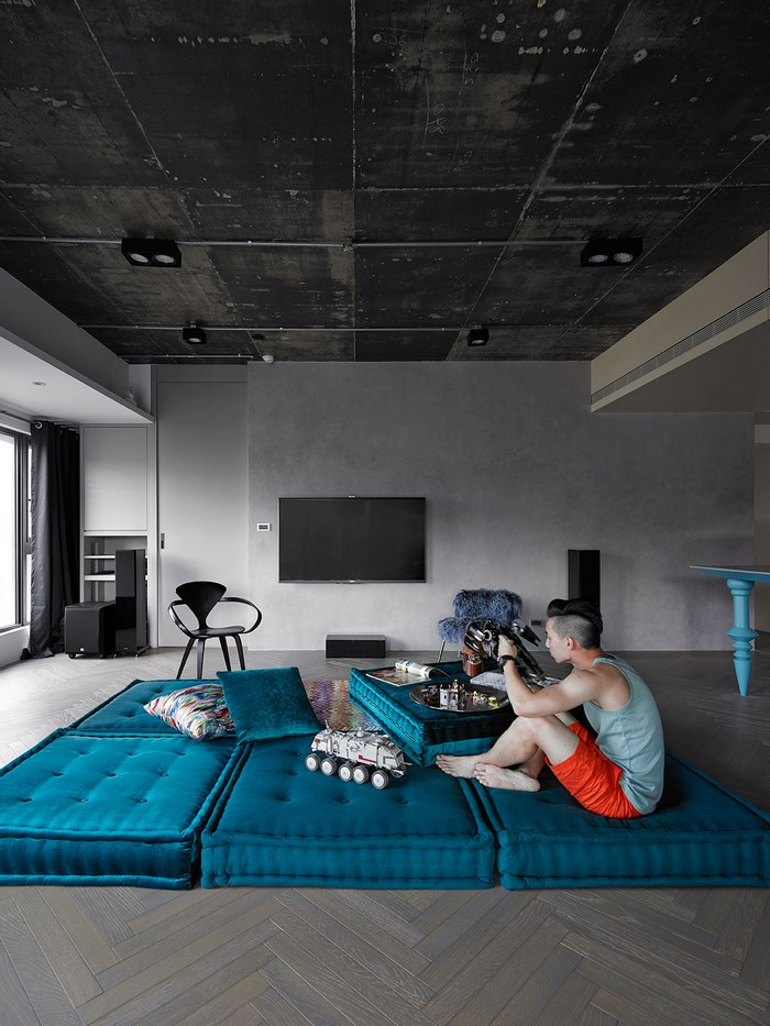 modern apartment Modern Apartment Renovation in Taipei, Taiwan by Ganna Design ganna design 3