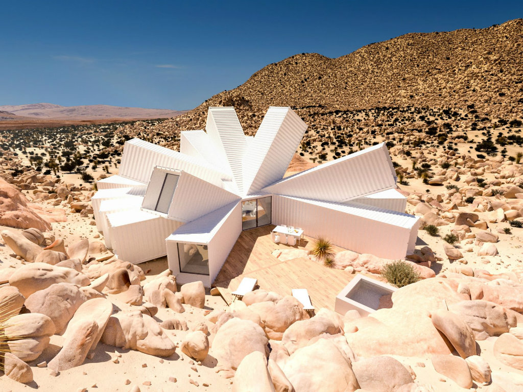 architecture Shipping Containers Form Unusual Architecture Project in the Desert cover 4