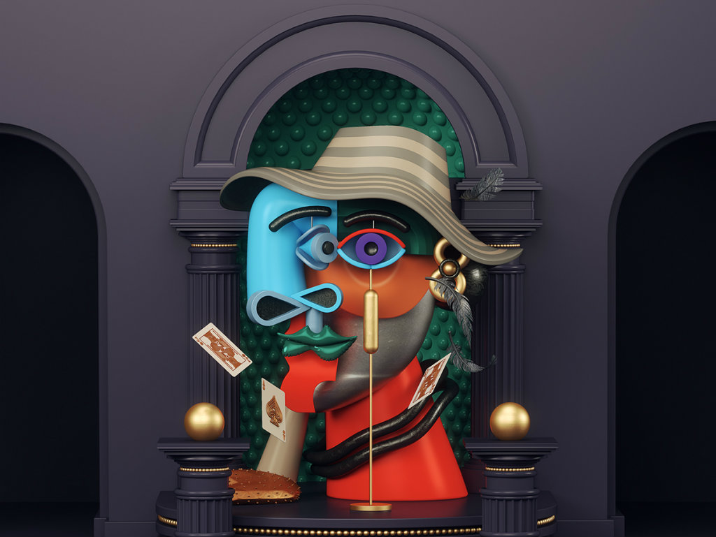 Picasso Paintings Omar Aqil is Back With Another Series of Picasso Paintings in 3D Art cover2 3