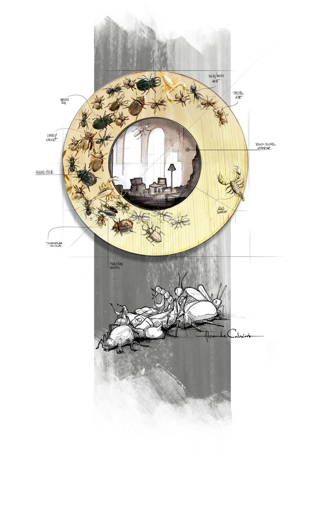 Furniture Boca do Lobo Furniture: Metamorphosis Family metamorphosis mirror sketch