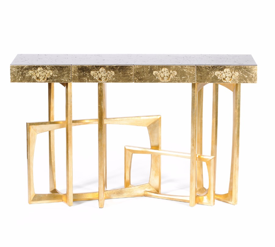 christmas decoration ideas Get Inspired by Golden Luxury Christmas Decoration Ideas Christmas Decoration Ideas 3 metropolis console by boca do lobo